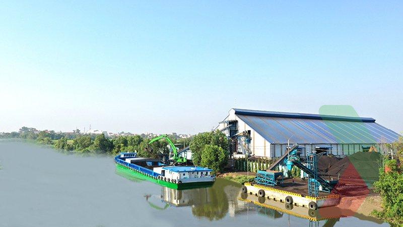 Kho than đá Tây Ninh - Công ty Thuận Hải vớisức chứa 200.000 tấn