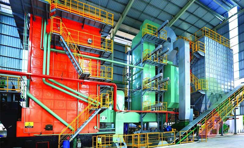Nhà máy đồng phát hơi nhiệt TCE và điện sử dụng nhiên liệu:than đá, rác thải, và trấu