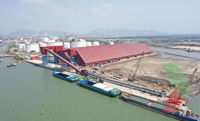 Than đá nhập khẩu về cảng Cái Mép